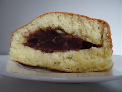 四角いホットケーキ 切り口にアンコ